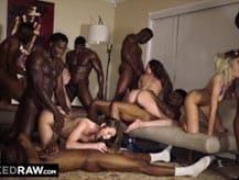 La mejor fiesta sexual con 4 pornostars
